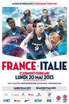 Affiche basket-ball France basket féminin