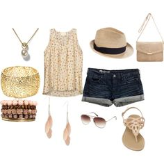 Day at the Beach, created by Samantha on Polyvore