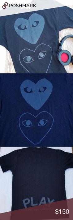 NWT COMME des GARCONS PLAY Black Two Hearts TShirt | #Poshmark #FashionToRewear #ArcadiaAttire