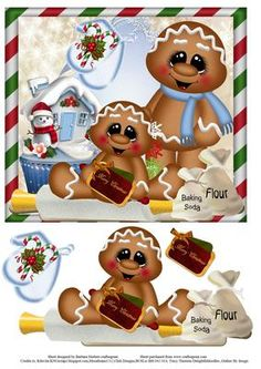 Cookies Christmas Baking Topper with Decoupage on Craftsuprint - Add To Basket!
