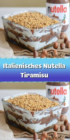 Köstliche Desserts, Sweet Desserts, Sweet Recipes, Nutella Brownies, Tiramisu, Buffet, Brunch, Food And Drink, Sweets