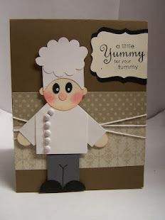 CHEF PUNCH ART. This card is adorable, designed by Bonnie Mountford.