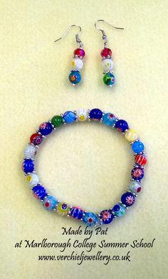 Bracelet & Earrings made by Pat at Marlborough College Summer School run by www.verchieljewellery.co.uk