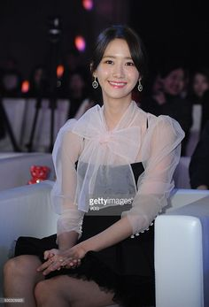 Im Yoona of South Korean girl group Girls' Generation attends CeCi Beauty Awards Ceremony on December 14, 2016 in Shanghai, China.