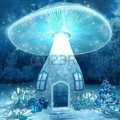 Superb Glowing: Glowing Mushroom House