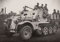 A Demag SdKfz 10/5 modified with a light armored hood and cab. Built after 1942 these mounted the 20mm FlaK 38 anti aircraft gun