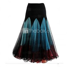 Ballroom Dance Dresses&Skirts Women's Performance Chiffon / Milk Fiber Draped 1 Piece Burgundy / Sky blue - USD $ 99.99