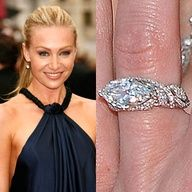 Marquis shaped diamond (Portia De Rossi) I dont usually like other shapes of diamonds but I like that this one is set horizontally.