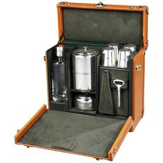 Louis Vuitton Portable 'Whisky Bar' | From a unique collection of antique and modern trunks and luggage at https://www.1stdibs.com/furniture/more-furniture-collectibles/trunks-luggage/