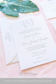 Wondering what exactly letterpress wedding invitations look and feel like? Order a sample now to see the luxurious, simplistic, yet modern look in person! We've got a feeling you'll like them and can help you through the process of ordering your custom invites!