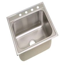 glacier bay all-in-one top mount stainless steel 25 in. 1-hole