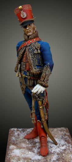 Anyone know the company, sculptor and scale?  Oficial francés 9º Regimiento de Husares 1812-1815