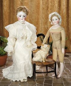 A Matter of Circumstance: 128 French Bisque Poupee by Gaultier with Dramatic Eyes and Signed Wig