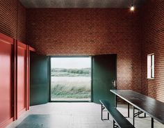 Image 8 of 37 from gallery of Skjern River Pump Stations / Johansen Skovsted Arkitekter. Photograph by Rasmus Norlander Architecture Magazines, Space Architecture, Ad Design, Design Awards, Design Ideas, Brick Interior, Interior Design, Brickwork, Brutalist