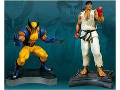 Marvel Vs. Capcom 3: Ryu & Wolverine 1/3 Scale Statue Set - Marvel Statues, Busts, Prop Replicas Statues
