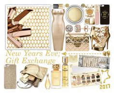 """New Years Eve, Gold, Gifts, Exchange"" by icy-frappe on Polyvore featuring Barclay Butera, Diamond Essence, GUESS, Chanel, Casetify, Christian Dior, Chico's, Smith & Cult, Michael Kors and Tory Burch"