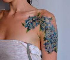 watercolor hydrangea tattoo - Google Search BAD PHOTO DECENT WORK