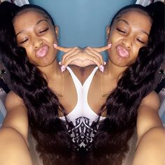 Water Wave Full Lace Wigs Human Hair For Black Women Natural Brazilian Glueless… Cheer Ponytail, Ponytail Girl, Black Girls Hairstyles, Diy Hairstyles, Wigs Online, Ponytail Styles, Dream Hair, Love Hair, Hair Goals
