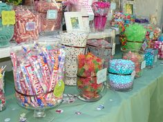 sweet sixteen party ideas | We used vases & candy jars of varying sizes to give the display some ...