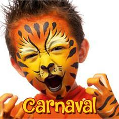 Tiger make up Tigre maquillage enfant halloween Face Painting Stencils, Face Painting Designs, Body Painting, Paint Designs, Halloween Kostüm, Halloween Makeup, Professional Face Paint, Hair Balm, Artistic Make Up