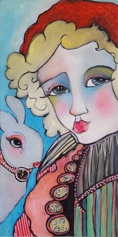 Original Bunny Oil Painting on Birch Panel by Liz Vaughn, x Available for purchase Princess Zelda, Disney Princess, Disney Characters, Fictional Characters, Original Paintings, Bunny, My Arts, The Originals, Birch