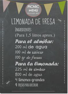 Revelando Sabores: { MENÚ PICNIC II } Tarta de tomates y espárragos verdes, Ensalada campera, Limonada de fresa y mucho más...