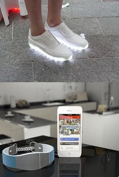 Light Up Trainers And Wearable Technology Based Dog Collar #wearabletech #technology