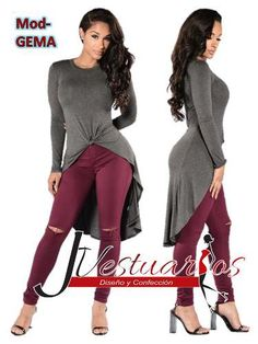vestidos casuales - blusones- maxivestido-tunicas Cool Outfits, Casual Outfits, Fashion Outfits, Womens Fashion, Simple Dresses, Short Dresses, Burgundy Outfit, Blouse Styles, Casual Wear