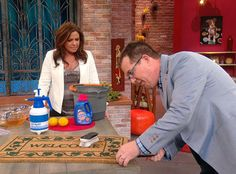When Peter Walsh reveals the ickiness that your doormat might contain, you'll welcome his cleaning tips with open arms! Clean Mama, Clean Clean, Green Cleaning, Spring Cleaning, Organizing Tips, Organization Hacks, Cleaning Solutions, Cleaning Hacks, Peter Walsh