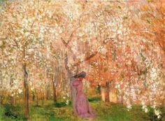 jozsef rippl ronai - Google Search Cherry Tree, Artist, Plants, Painting, Google Search, Kunst, Artists, Painting Art, Cherry Blossom Tree