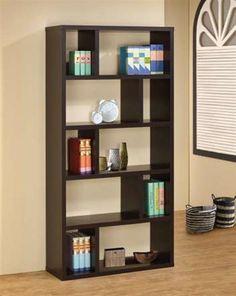 Coaster Furniture 800296 Contemporary Bookshelf in Cappuccino Decor, Contemporary Bookshelf, Coaster Fine Furniture, Bookcase, Coaster Furniture, White Bathroom Furniture, Furniture, Diy Cardboard Furniture, Home Furnishings