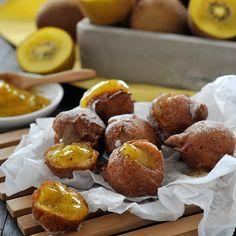 Luchtige soesjes gevuld met crème van Zespri SunGold kiwi