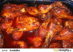 kuřecí špalíčky na medu West African Food, Indian Chicken, Orange Chicken, Chicken Wings, Chicken Recipes, Food And Drink, Meat, Foods, Top
