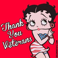 c2eb4cb39 Thank You Veterans MORE Betty Boop Graphics & Greetings:  http://bettybooppicturesarchive