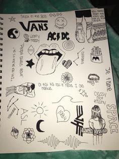 Trippy Drawings, Tumblr Drawings, Sad Drawings, Cute Easy Drawings, Cool Art Drawings, Doodle Drawings, Art Drawings Sketches, Doodle Art, Notebook Drawing