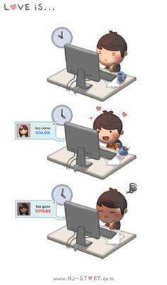 HJ-Story :: love is discovered by Love Cartoon Couple, Cute Couple Comics, Couples Comics, Cute Love Cartoons, Love Couple, Anime Couples, Cute Couples, Chibi Couple, Funny Cartoons