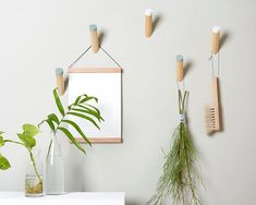 minimalist wood wall hooks