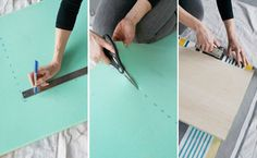 Step 9: Before finally installing the bench top, we added foam underneath our fabric for extra comfort.   Cut a piece of fabric to cover the top of the plywood, leaving plenty of overhang.   Stack first your foam on top of your piece of fabric then lay your plywood panel on top of it. Fold and staple your fabric along each edge of your plywood panel.