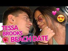 Tessa and Chance vlog their adventure at the beach. CHESSA IS OVER. Tessa And Chance, Karina Garcia, Tessa Brooks, Chessa, Beach Date, Romantic Beach, Adventure, School, Day