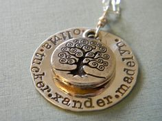 I want this in eight years when Im done having kids! Lol! A personalized family tree by debidean on Etsy, $38.00