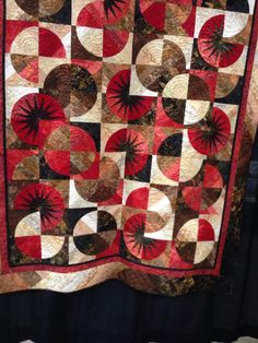 "Debbie Caffrey Mystery Quilts | Debbie Adami ""Desert Fire"" Quilted by Brandy Rice"