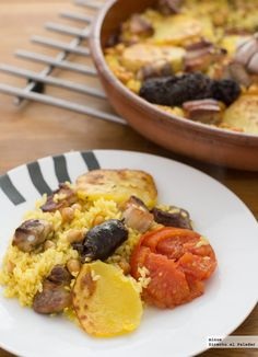 Receta tradicional de arroz al horno. Con fotos del paso a paso, los ingredientes y la presentación. Trucos y consejos de elaboración. Recetas de...