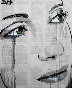 """Saatchi Online Artist: Loui Jover; Pen and Ink, 2013, Drawing """"momentary bliss"""""""