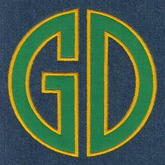 677 Circle 2 Letter Monogram Satin Applique - Jolson's Designs