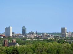 Worcester MA skyline.