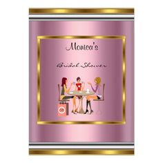 Hosting a bridal shower for your daughter, best friend or sister? Design bridal shower invitations to send out to all her friends and family! Wedding Shower Invitations, Pink Invitations, Pink And Gold, Frame, Picture Frame, Frames