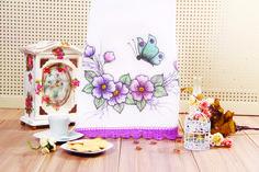 Pintura em Canetinha Marcia Caires - Pano de Copa Jardim Primavera