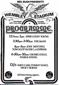 Crosby Stills Nash and Young - Wembley Stadium 1974