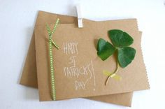 St. Patrick's Day Cards #clover #green #camillestyles