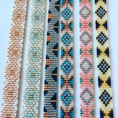 off loom beading techniques Loom Bracelet Patterns, Seed Bead Patterns, Bead Loom Bracelets, Beaded Jewelry Patterns, Beading Patterns, Art Patterns, Mosaic Patterns, Color Patterns, Bead Loom Patterns